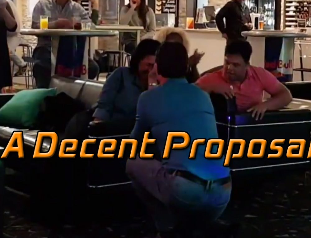 One of our regular singers (Marty) proposes during a song